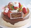 クリスマス生チョコレートクリームデコレーション